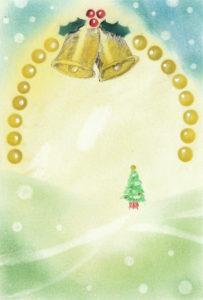 パステルートでクリスマスカード